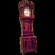 Incredible Barley Twist Tall Case clock signed Wm. Rennison