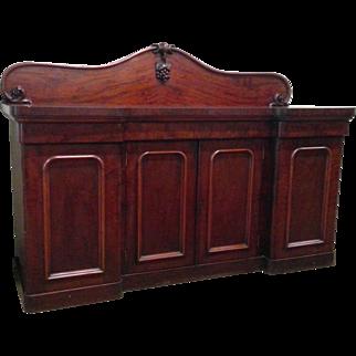 Mahogany Sideboard with Grape Carving