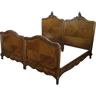 King OR Pair of Twin Louis XV Bed Frames