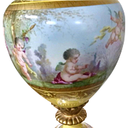 Sevres-style Lamp  Fine Quality fake mark circa 1900