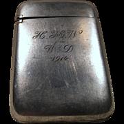 1899 English Georgian Sterling Silver Snuff Box