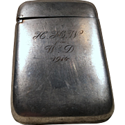 1899 English Georgian Sterling Silver Snuff Box - Red Tag Sale Item