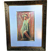 Color Chromolithograph  Framed in a Period Frame- Ultimate Beauty