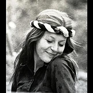"""Black-White Artistic Photograph from the Counterculture Era """"Olia"""" 70's"""