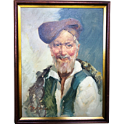 G.Bertanazzi-Listed Italian Painter- Portrait of an Old Man c. 1920