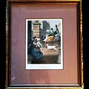 La Porte Cochere of J.J. Chalon Series Of Lithograph Plates