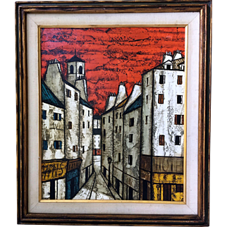 Augustini, Pandro Oil-Canvas Signed Painting White City
