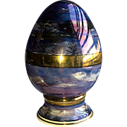 Fine China Gilded Irridescent Handpainted Egg