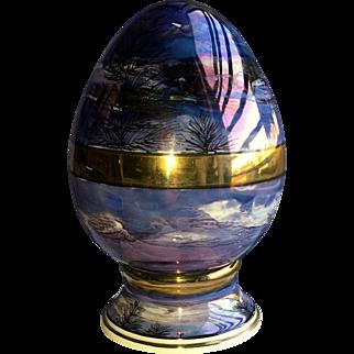 Fine China Gilded Irridescent Handpainted Egg