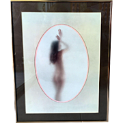 Art Photograph Nude Behind Glass