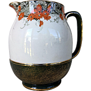 Unique Doulton Burslem Hand Painted Gilded Pitcher 1891-1902