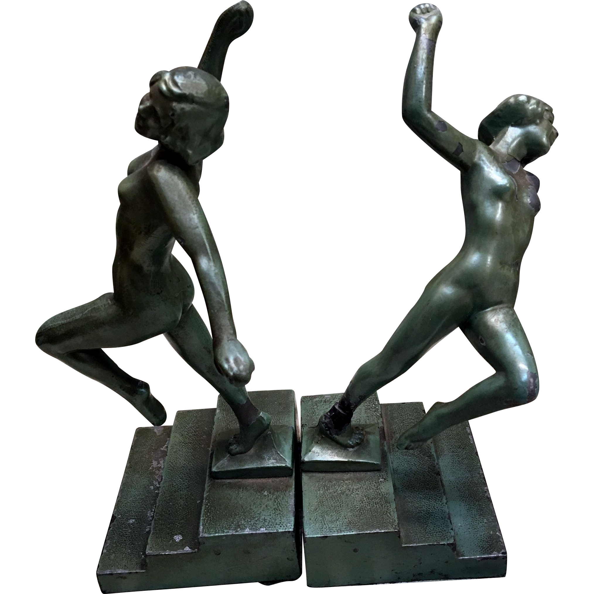 Art deco frankart period original bookend from with an eye for Art deco period