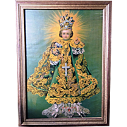 Vintage Infant of Prague Framed Print 1950's