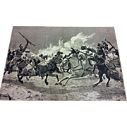 R.C. Woodville Jr. The War in Tunis- Lithograph in Illustrated London News , Nov 26, 1881