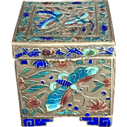 Antique Chinese Enamel Brass/Copper Box C.1900