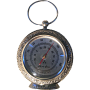 Three Star Thermometer Vintage Pocket Watch Style Lacquered Fahrenheit & Celsius