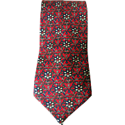 Vintage Christian Dior Red Necktie Monsieur