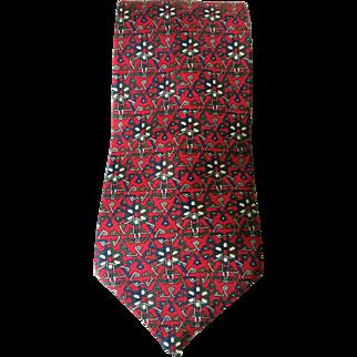 Vintage Christian Dior Red Necktie Monsieur