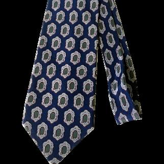 Giorgio Armani Silk Navy Cravatte Collection Necktie