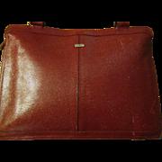Lizard Leather Dark Corrida Red Shoulder Purse Bag from Phillippe- Vintage-70's-Very little worn