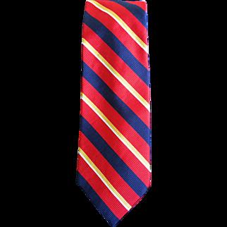 Polo Ralph Lauren Vintage Burgundy Silk Rep Tie