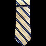 Tommy Hilfiger Silk Rep Tie- Yellow- Navy- Light Blue