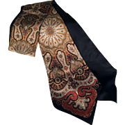 Vintage Fine Printed Pattern Silk Ladies Neck Tie c.1950