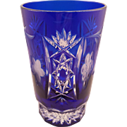 Lovely Blue Bohemian Glass Tumbler