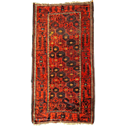 Fine Late 19th C. Baluch Scatter Rug