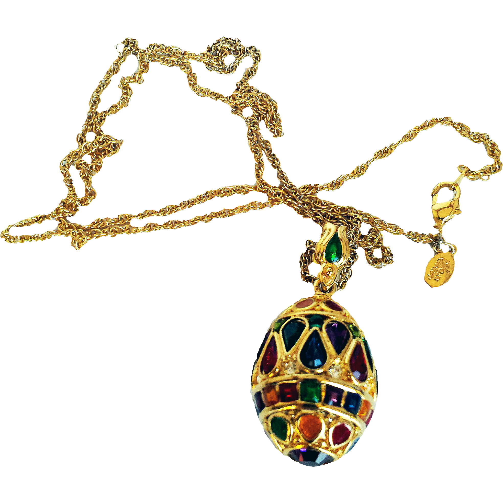 Joan rivers signed 1990 39 s large gem colors swarovski for Joan rivers jewelry necklaces