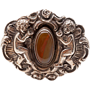 Victorian 800 silver brooch
