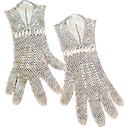 Vintage crocheted gloves