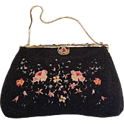 VIntage petipoint and beaded evening purse