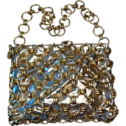 Disco vintage silver and gold shoulder bag