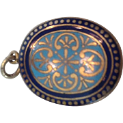 Victorian enamel locket