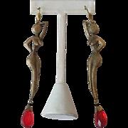 Nude women earrings