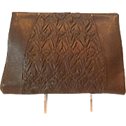 Deco leather clutch