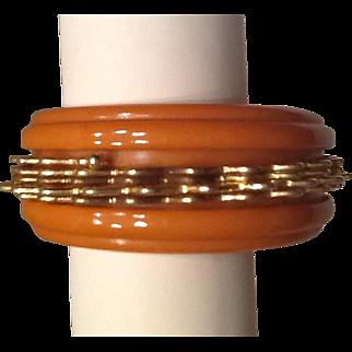 Bakelite and metal bracelet