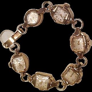 Vintage multi watch bracelet