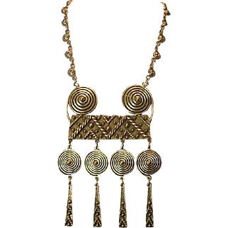 Vintage 60's breastplate necklace