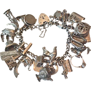 Loaded Sterling charm bracelet