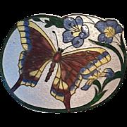 Art Nouveau enamel sash pin