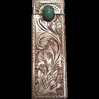 Vintage silver lipstick holder