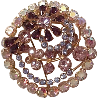 Beautiful large irredescent brooch