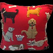 Vintage felt handmade pillow