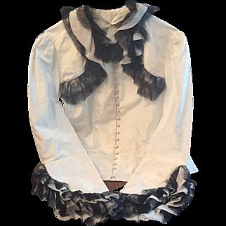 Vintage Taffeta and lace shirt