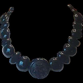 Victorian jet choker necklace