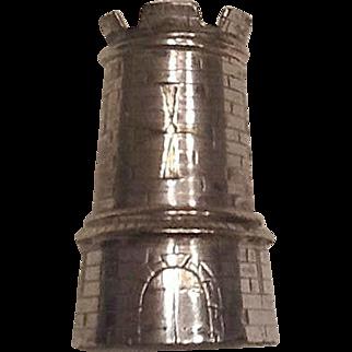 Victorian silver plate salt shaker