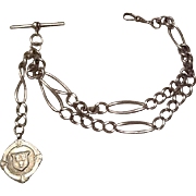 Sterling watch fob and chain