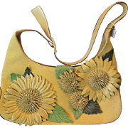 Ferragamo summer purse with leather flowers
